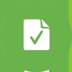 Hyväksyntämerkillä varustettu paperi vihreällä pohjalla